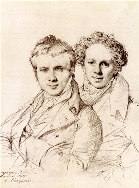 Otto Magnus von Stackelberg and Jacob Linckh, 1817 - Jean Auguste Dominique Ingres