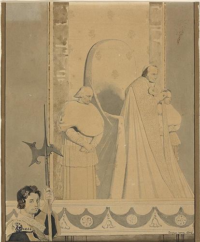 Pope Pius VII officiating at St. Peter, 1809 - Jean Auguste Dominique Ingres