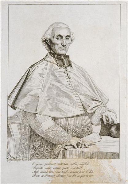 Portrait of Bishop Persigny, 1816 - Jean Auguste Dominique Ingres