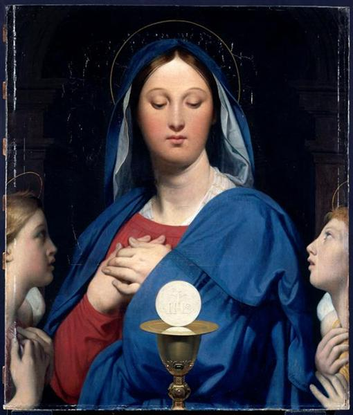 The Virgin of the Host, 1866 - Jean Auguste Dominique Ingres