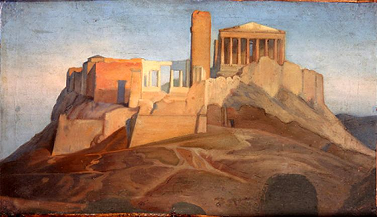 View of the Acropolis of Athens, 1841 - 1849 - Jean Auguste Dominique Ingres