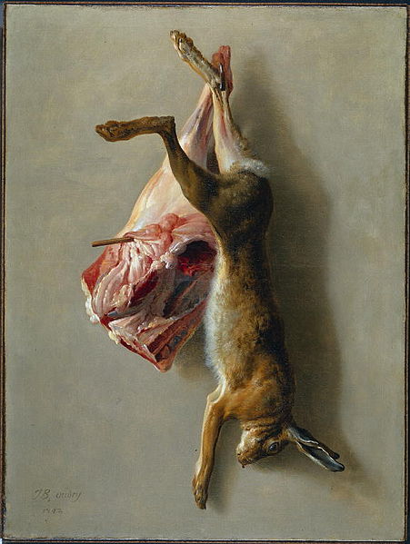 A Hare and a Leg of Lamb, 1742 - Jean-Baptiste Oudry