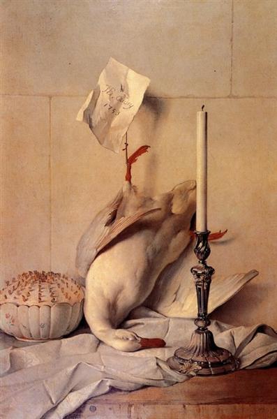 The White Duck, 1753 - Jean-Baptiste Oudry