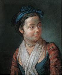 Portrait of a Young Girl - Jean-Baptiste-Simeon Chardin