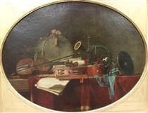 The instrumentsof musiccalendar - Jean-Baptiste-Simeon Chardin