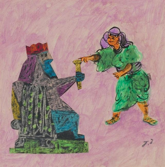 Esther and Ahaseurus - Жан Давид