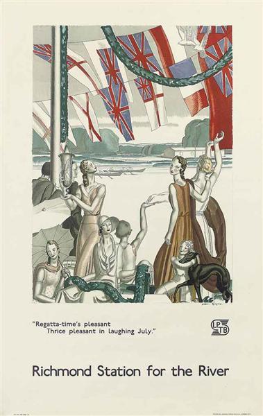 Regatta-Time's Pleasant, Richmond, 1933 - Jean Dupas