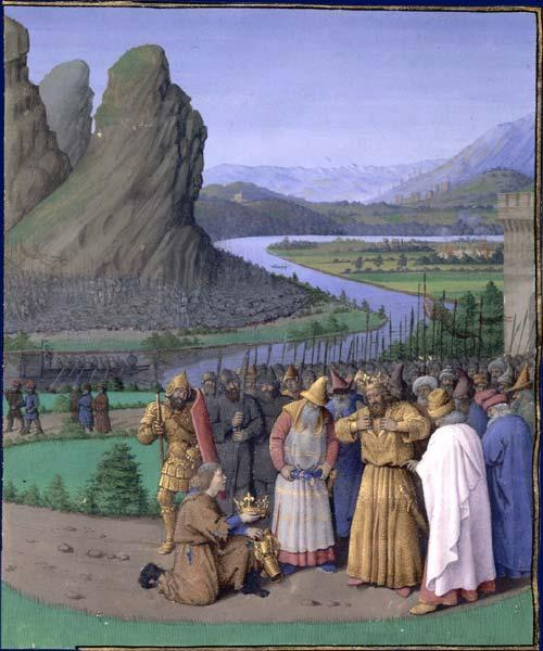 David Learning of the Death of Saul, c.1470 - Jean Fouquet
