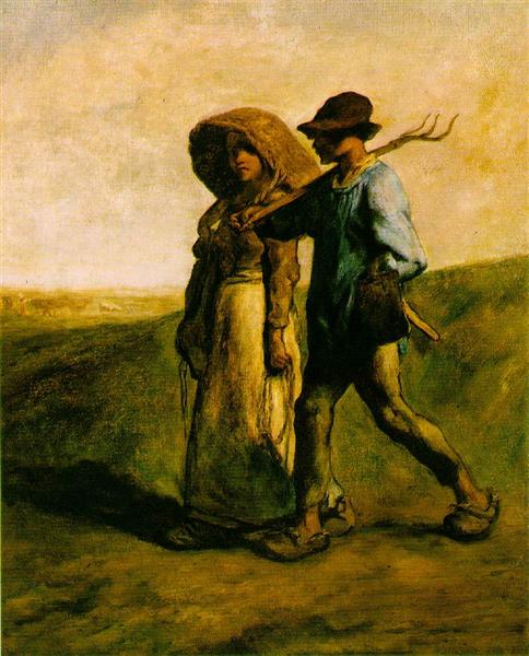 Going to Work, 1851 - 1853 - Jean-Francois Millet