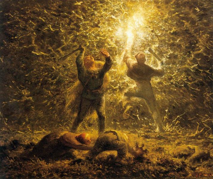 Hunting Birds at Night, 1874 - Jean-Francois Millet
