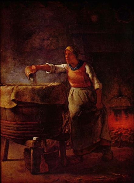 Laundress, c.1861 - Jean-Francois Millet