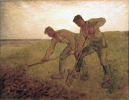 The Diggers, 1855 - Jean-Francois Millet