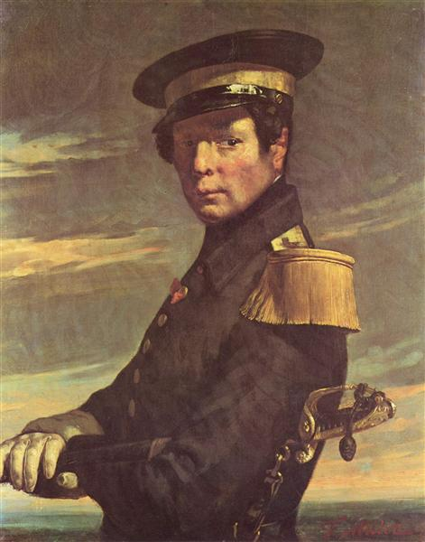 Portrait of a naval officer - Jean-Francois Millet