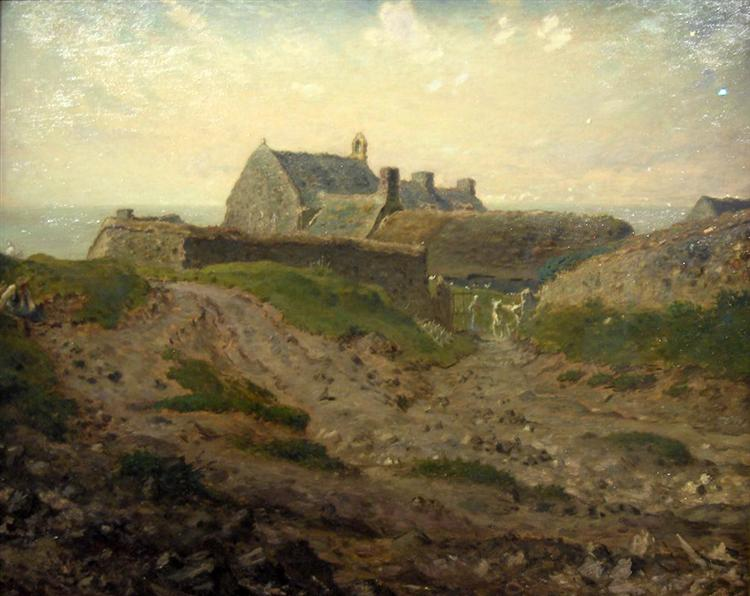 Priory at Vauville, Normandy - Jean-Francois Millet