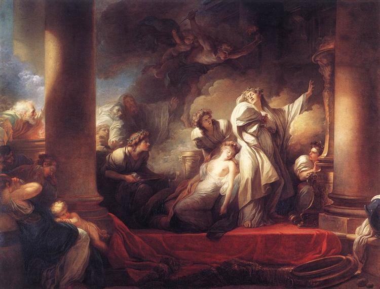 Coresus at Callirhoe, 1765 - Jean-Honoré Fragonard