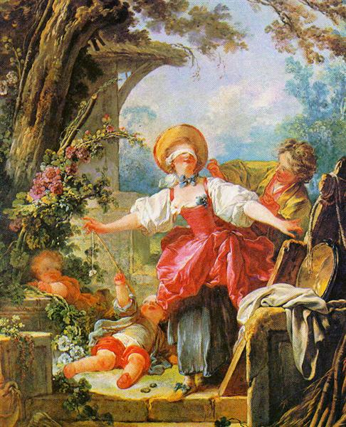 Blind Man's Bluff - Jean-Honore Fragonard