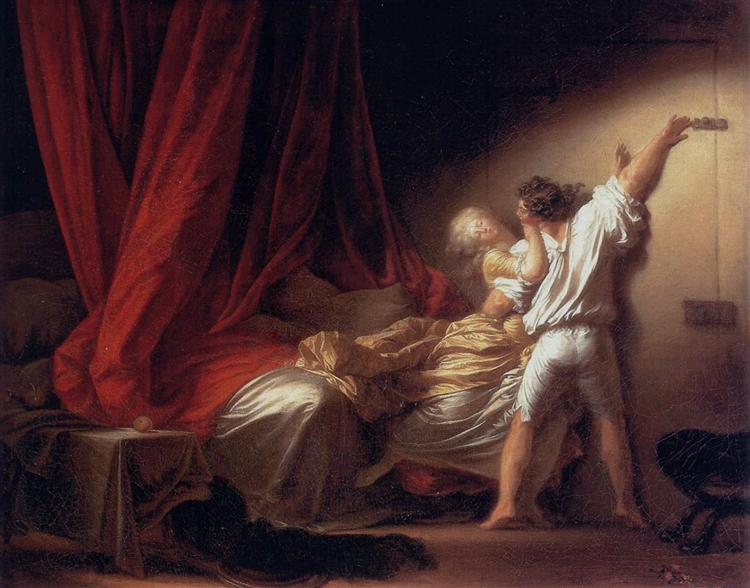 The Bolt, c.1778 - Jean-Honore Fragonard