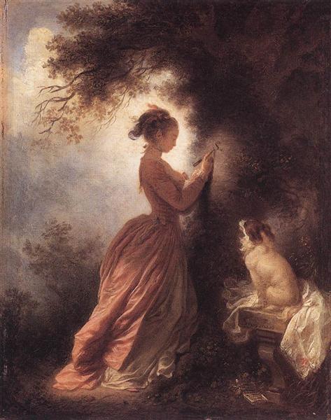 The Souvenir, 1775 - 1778 - Jean-Honore Fragonard