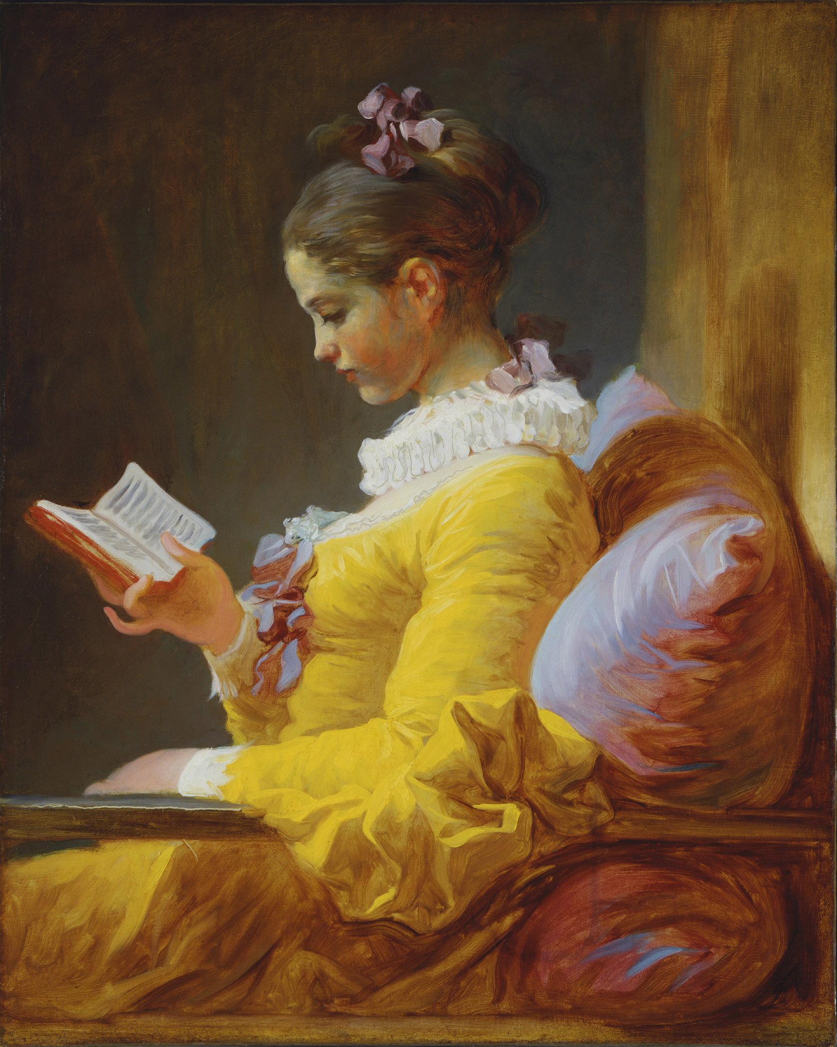 A Young Girl Reading, by Jean Honoré Fragonard, circa 1776