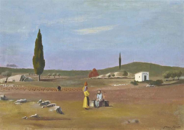La conversation au puits, 1934 - Jean Hugo