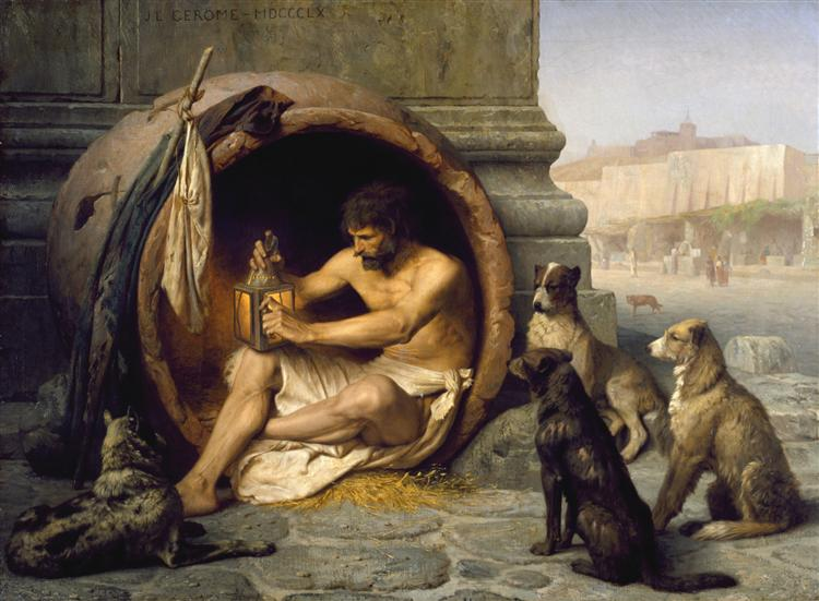 Diogenes, 1860 - Jean-Leon Gerome