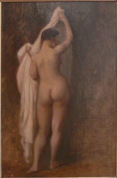 Desnuda por detrás (Estudio para el rey Candaule) - Gérôme Jean-León