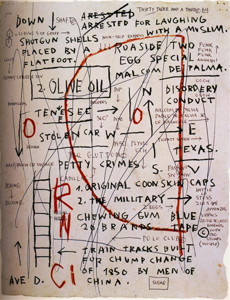 Olive Oil, 1982 - Jean-Michel Basquiat