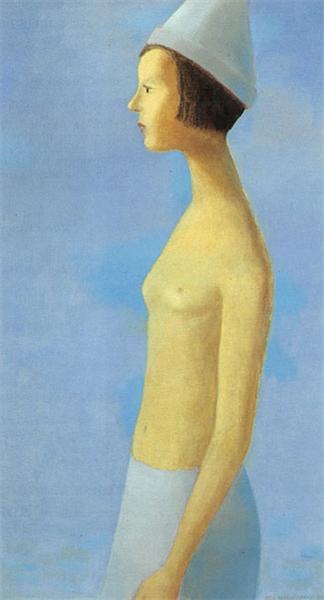 Nu sur fond bleu, 1963 - Jean Paul Lemieux