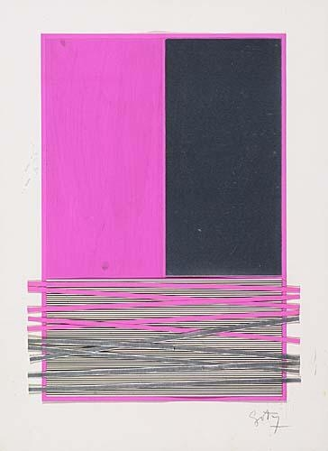 Abstract Composition with Silver and Magenta, c.1970 - Jesus Rafael Soto