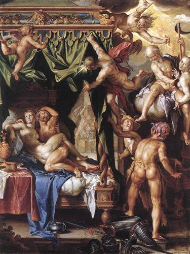 Mars and Venus Discovered by the Gods - Joachim Wtewael