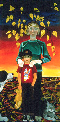 Christmas Time 1970 (Joan and Noel), 1971 - Joan Brown
