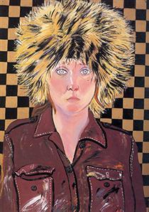 Self-Portrait in Fur Hat - Joan Brown