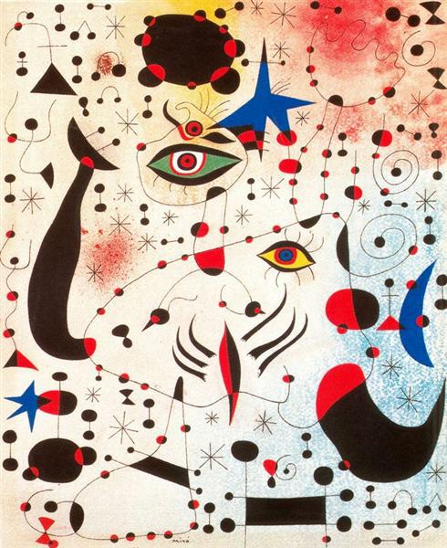 Ciphers and Constellations, in Love with a Woman, 1941 - Joan Miro