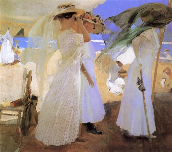 Beneath the Canopy, 1910 - Joaquín Sorolla