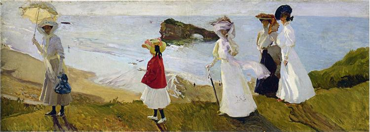 Lighthouse walk at Biarritz, 1906 - Joaquín Sorolla