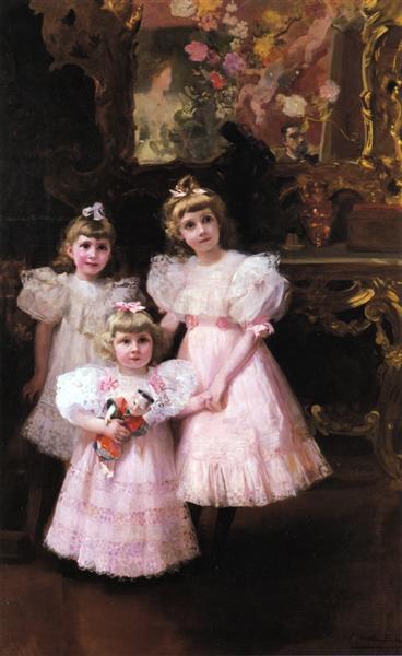 The Three Errazuriz Sisters, 1897 - Joaquín Sorolla
