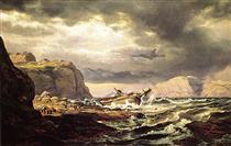 Schiffbruch an der norwegischen Küste - Johan Christian Clausen Dahl