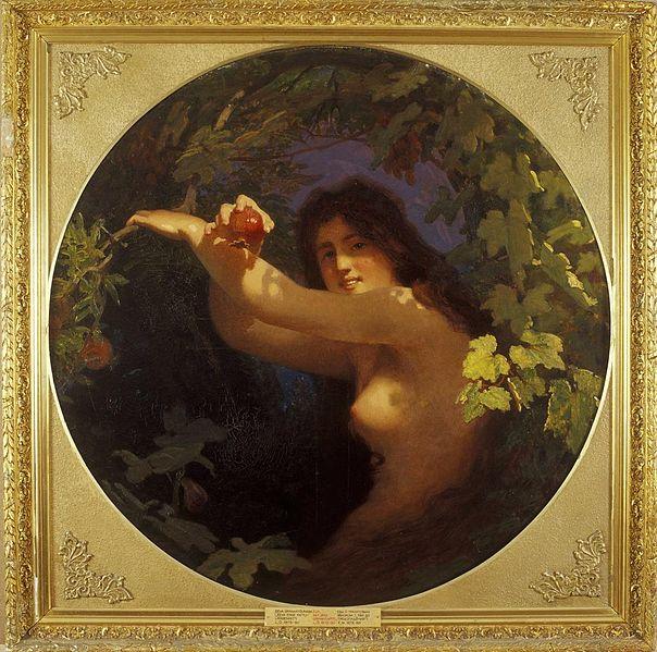 Eve with a Pomegranate, 1880 - Йоган Келер