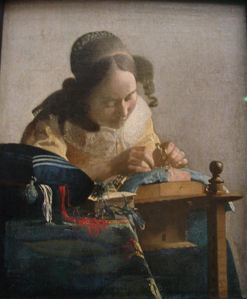 The Lacemaker, c.1669 - c.1671 - Johannes Vermeer