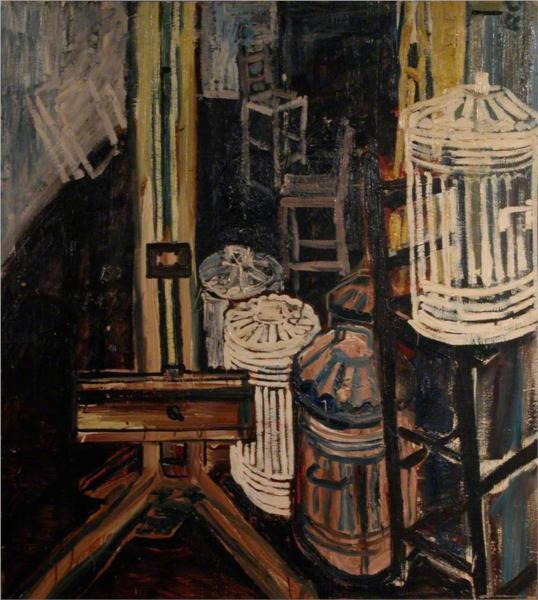 Dustbins in the Studio - John Bratby