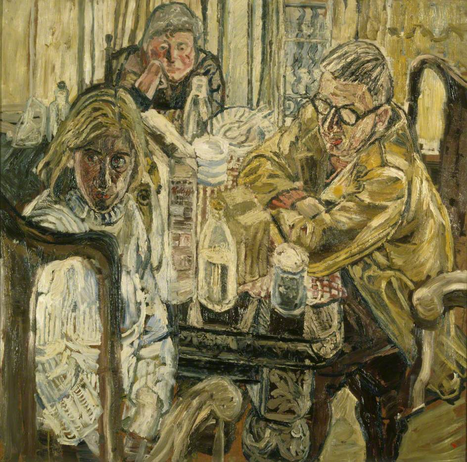 Three People at a Table, 1955