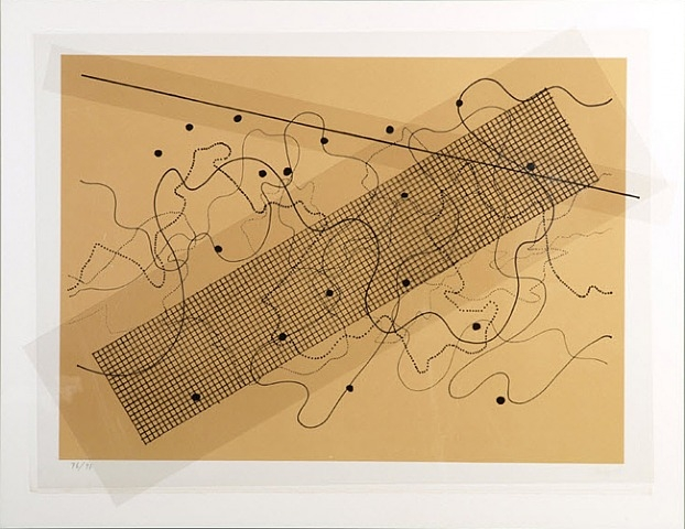 Fontana Mix (Orange/Tan) - John Cage