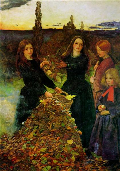 Autumn Leaves, 1855 - 1856 - John Everett Millais
