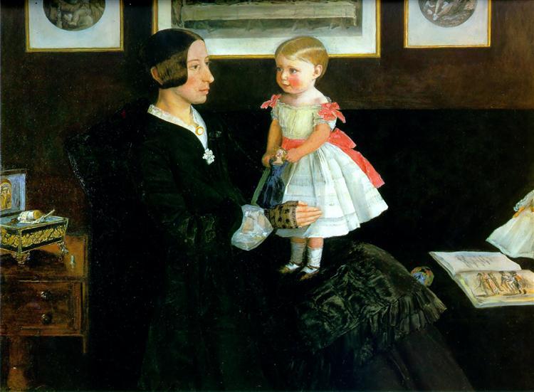 Portrait of Mrs James Wyatt - John Everett Millais