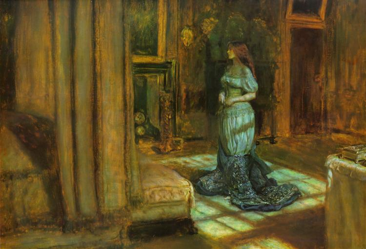 J. E. Millais, The Eve of St. Agnes, 1863 [https://uploads1.wikiart.org]