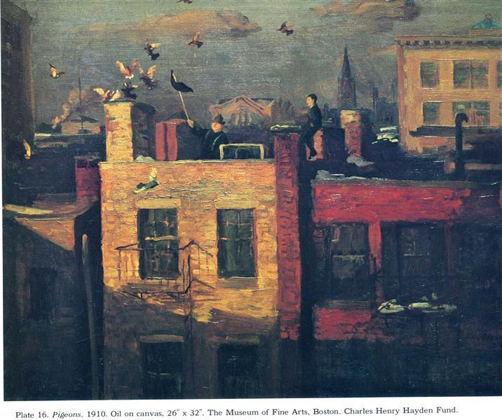 Pigeons, 1910 - John French Sloan