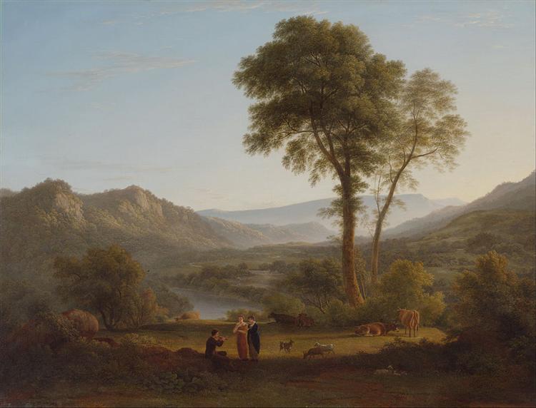 At Matlock - mist rising, 1814 - John Glover