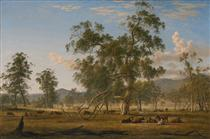 Patterdale landscape with cattle - Джон Гловер