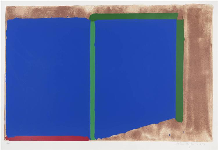 Blues, Greens, 1969 - John Hoyland
