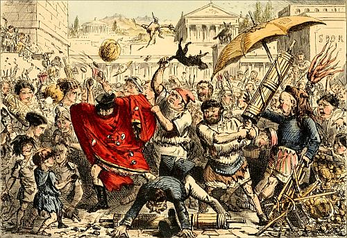 Appius Claudius Punished by the People - John Leech